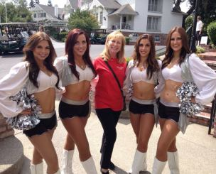 Charity Event with Oakland Raiderettes